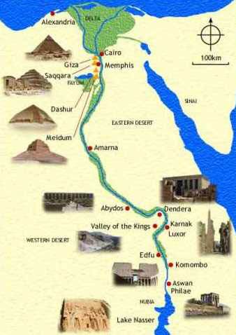 Travel Egypt Guide Map Of Egypt